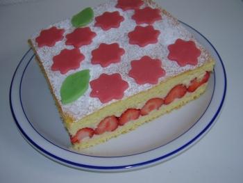Gateau fraise leger